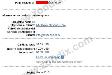 Segundo Pago de 8$ Recibidos de ClixSense