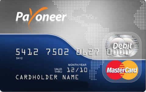 Solicita tu tarjeta payoneer y retira tu dinero de paypal