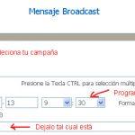 Como Crear un Mensaje Broadcast con GVO Paso a Paso