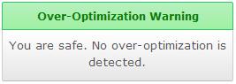 El exceso de Optimización-Safe