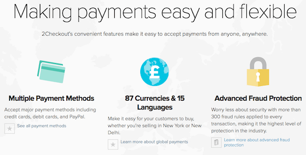 Procesador de pago 2chekout - pasarelas de pago online